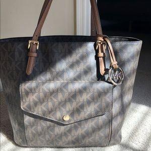 Michael Kors Brown Leather Tote Bag